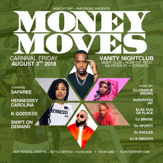 MONEY MOVES FT SAFAREE+  HENESSY CAROLINA @ Vanity Nightclub +ROOFTOP