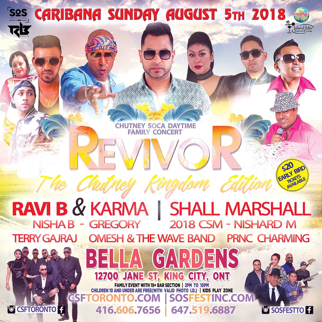 REVIVOR | Toronto Carnival Sunday Day Time Concert