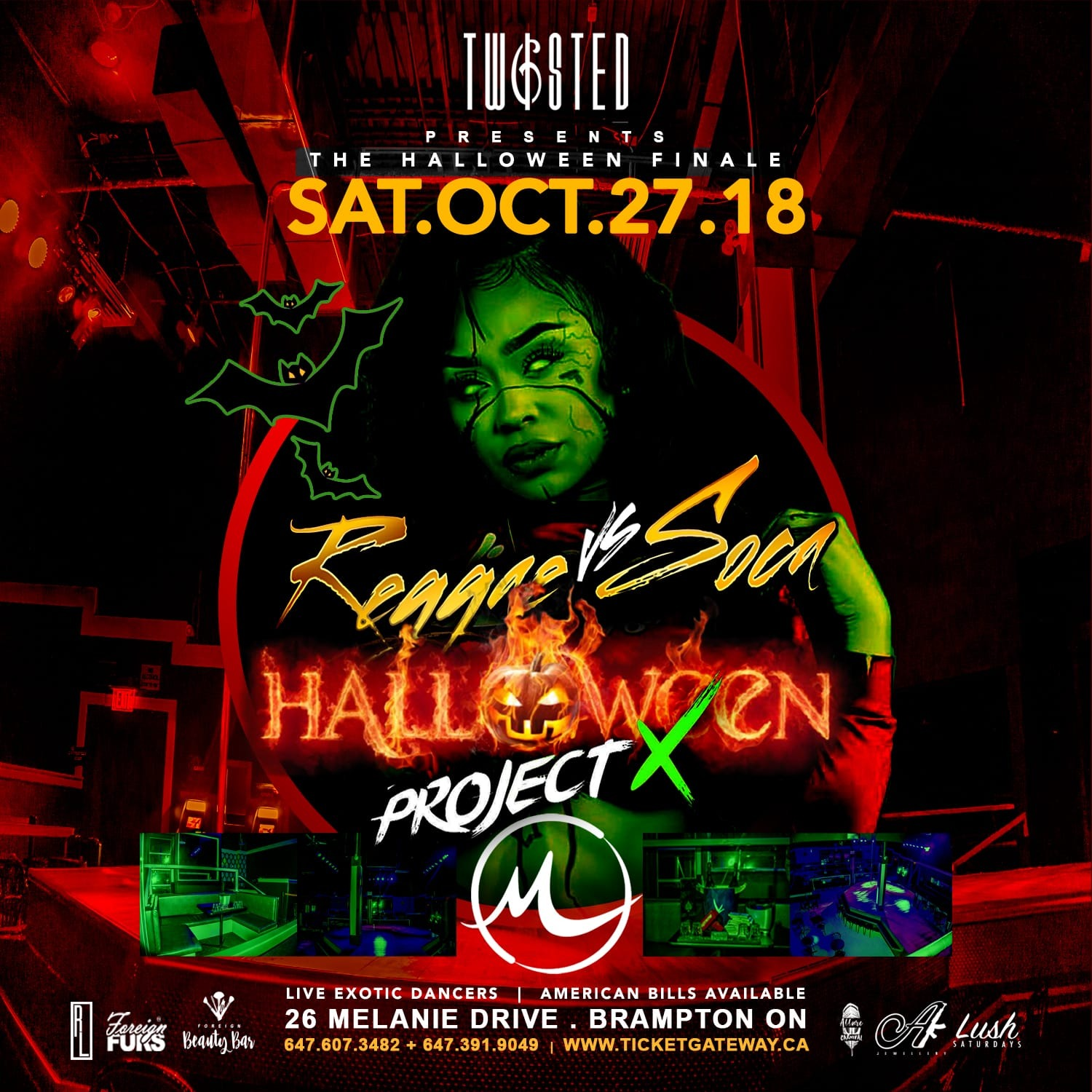 Reggae Vs Soca: Halloween Edition | Sat Oct 27th | Haunted Fairgrounds
