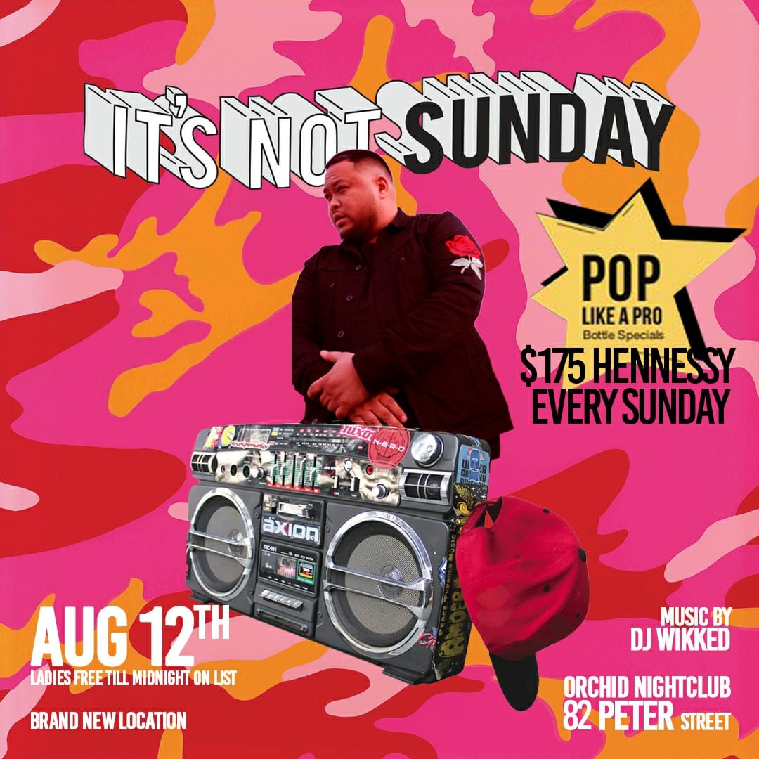 ITS NOT SUNDAY HIP HOP PARTY