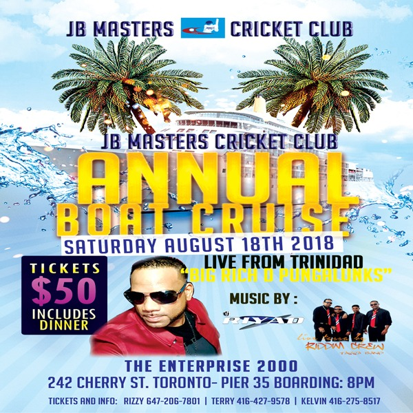 JB Masters Crickets Club Annual Boat Cruise