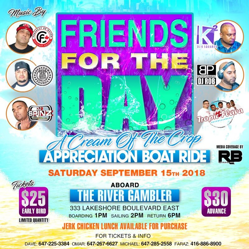 Friends For The Day - A Cream of the Crop Appreciation Boat Ride
