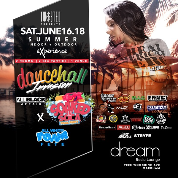 Dancehall Invasion x Soaked In Soca: Foam Fete ★ Saturday June 16th 2018
