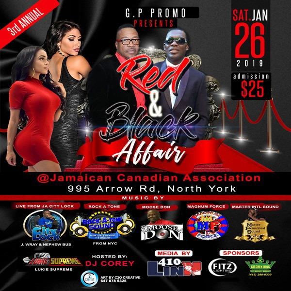 G.P Promo--3rd Annual--Red And Black Affair