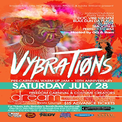 VYBRATIONS  *Pre-Carnival Warm Up Jam - 10th Anniversary