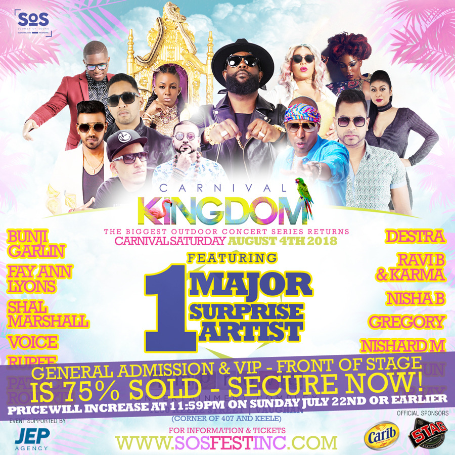 CARNIVAL KINGDOM 2018 | SOS Fest | Carnival Saturday's Biggest Concert Fete