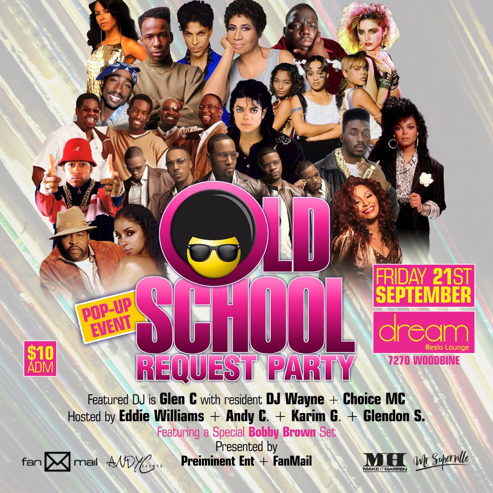 Old School Request Party Pop-Up