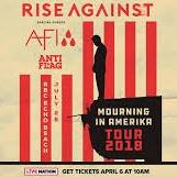 AFI & Anti-Flag Rise Against Ticket   AFI & Anti-Flag  & Tour 2018 Tickets