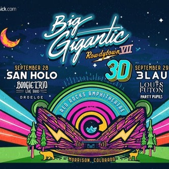 Big Gigantic Concert Red Rocks Amphitheatre 2018 Tickets - 2 Day Pass