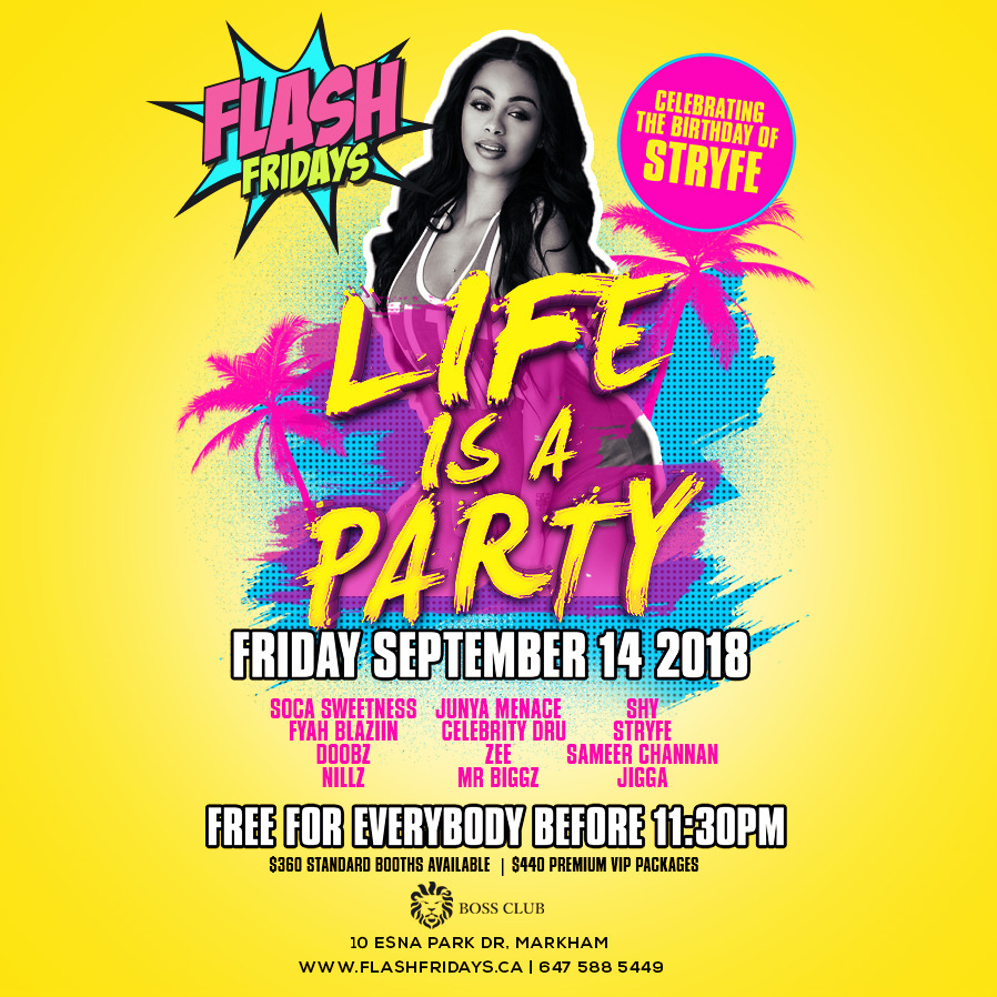 FLASH FRIDAYS - LIFE IS A PARTY