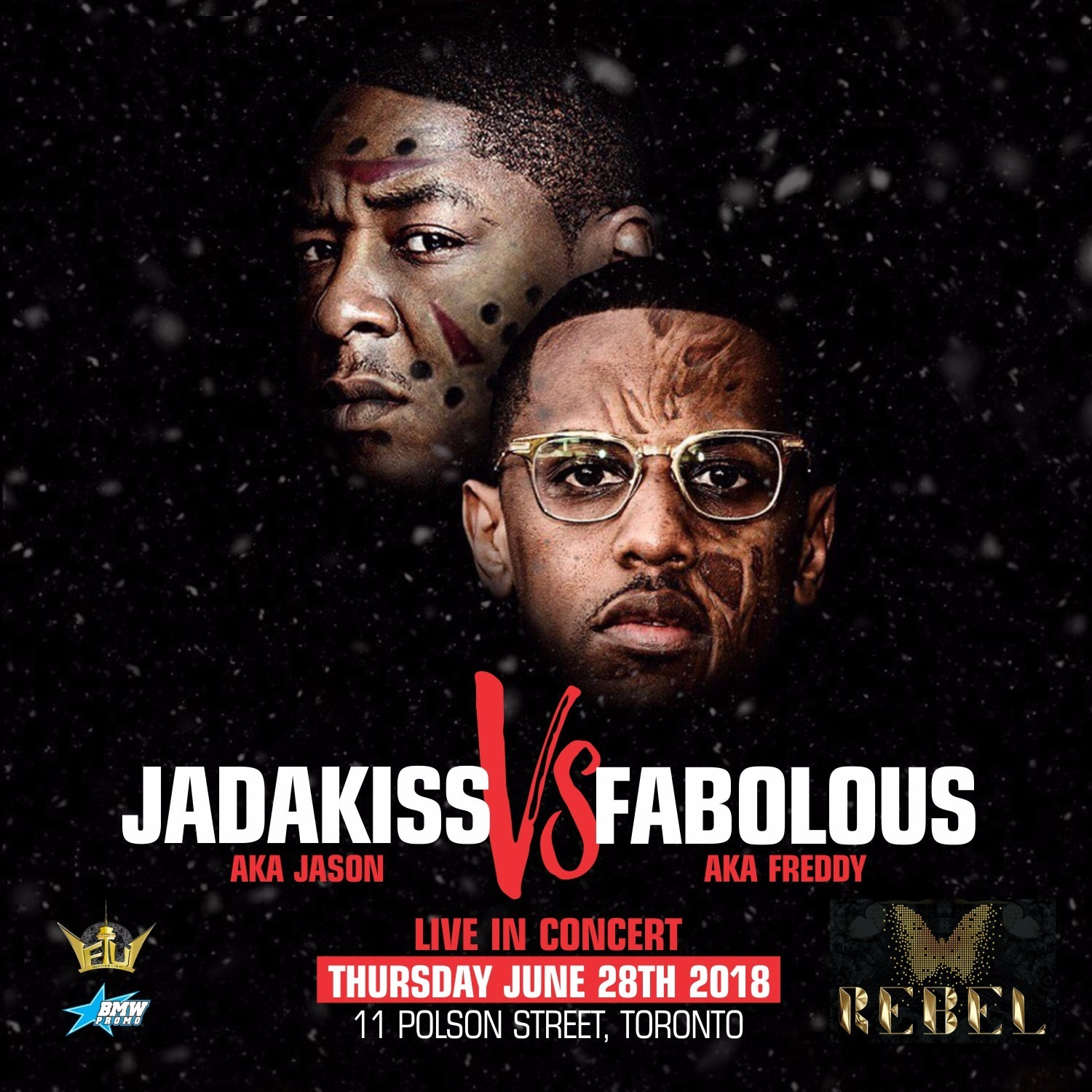 AKA JASON - JADAKISS V.S AKA FREDDY - FABOLOUS Live iN Concert @ Rebel