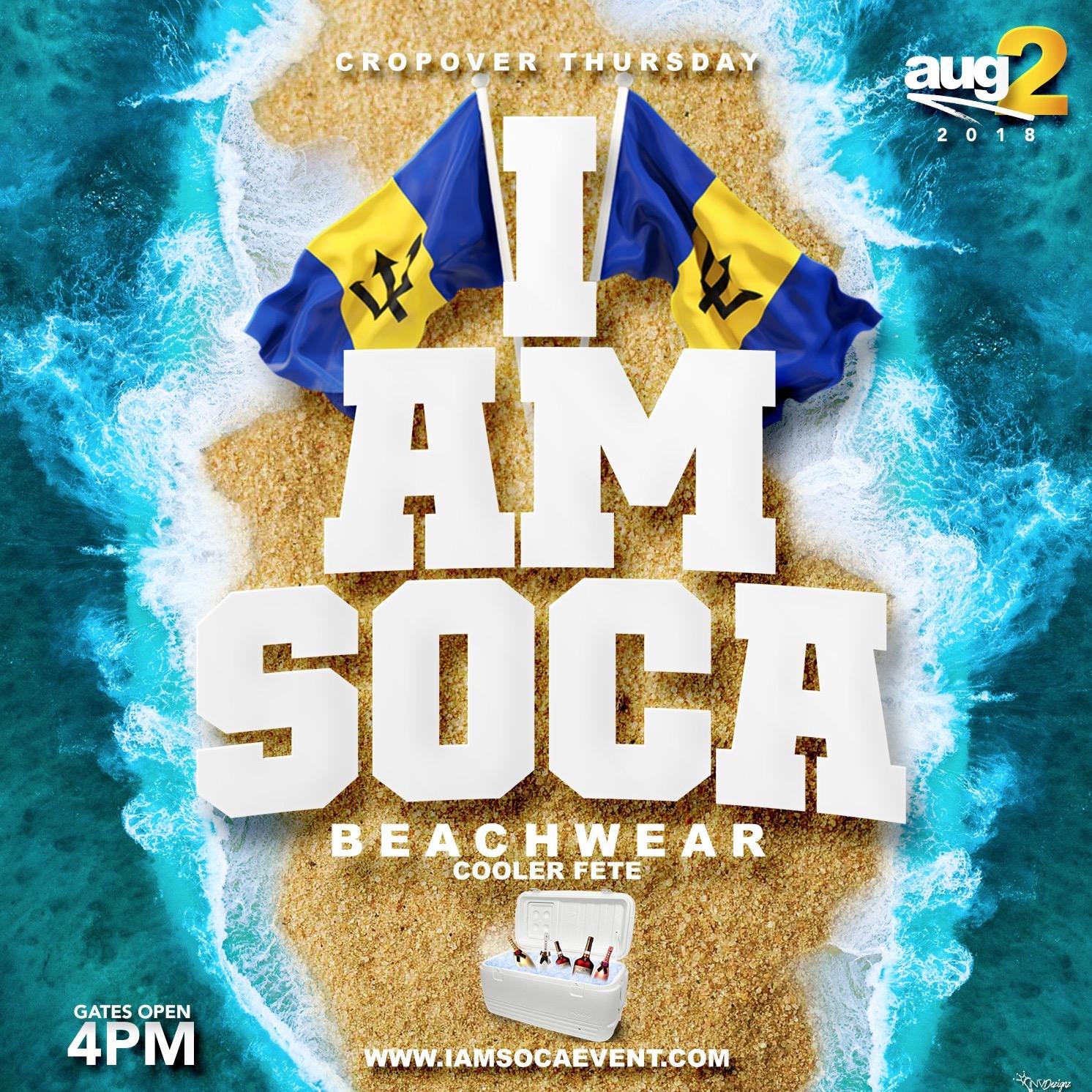 I AM SOCA BIM Cooler Beach Party