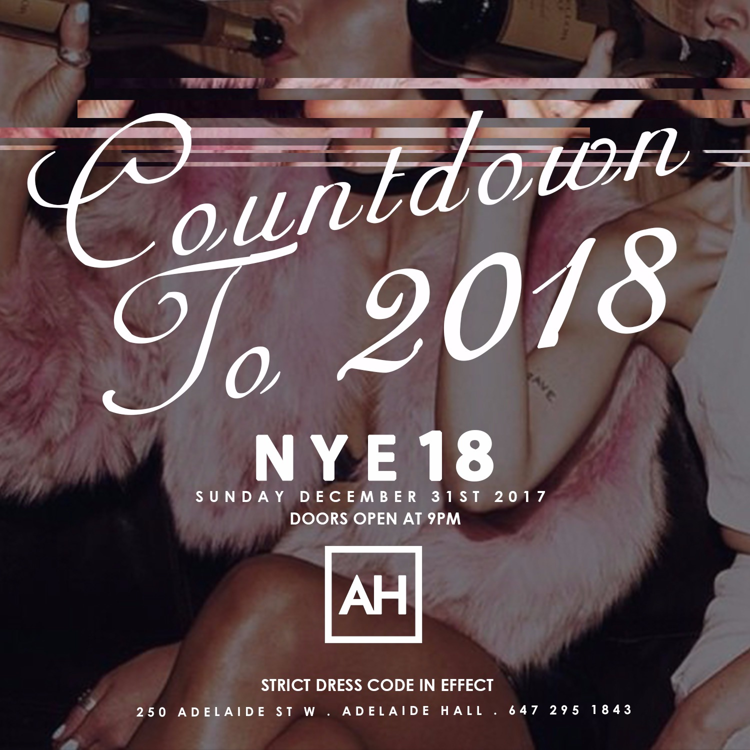 Countdown to 2018 NYE @ Adelaide Hall // Sun Dec 31st