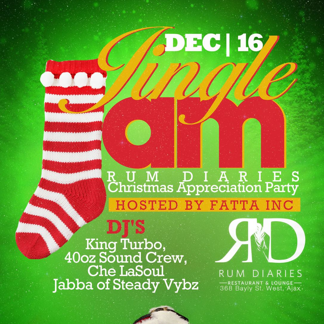 JINGLE JAM - RUM DIARIES CHRISTMAS APPRECIATION PARTY