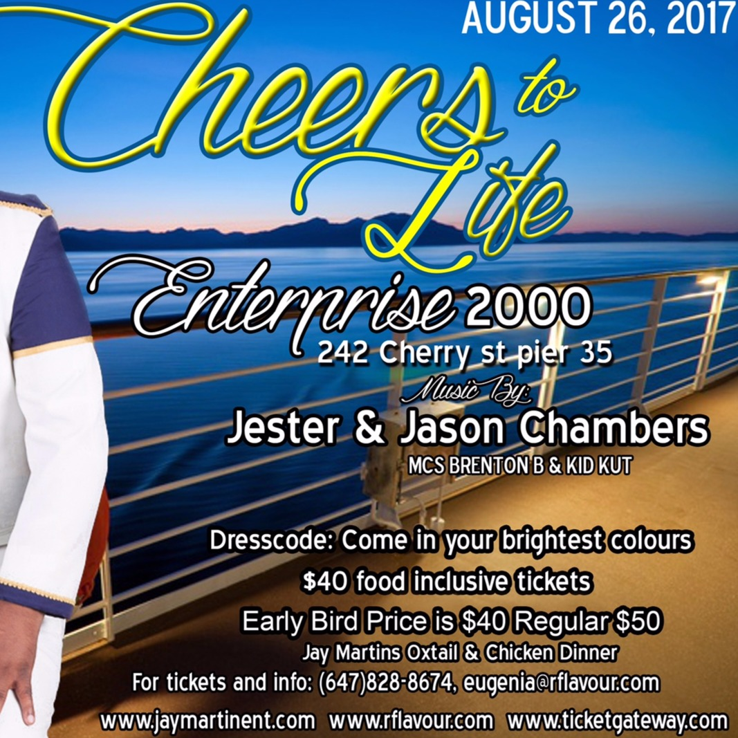 Cheers To Life - Jay Martin, Rflavours Boat Cruise 2017