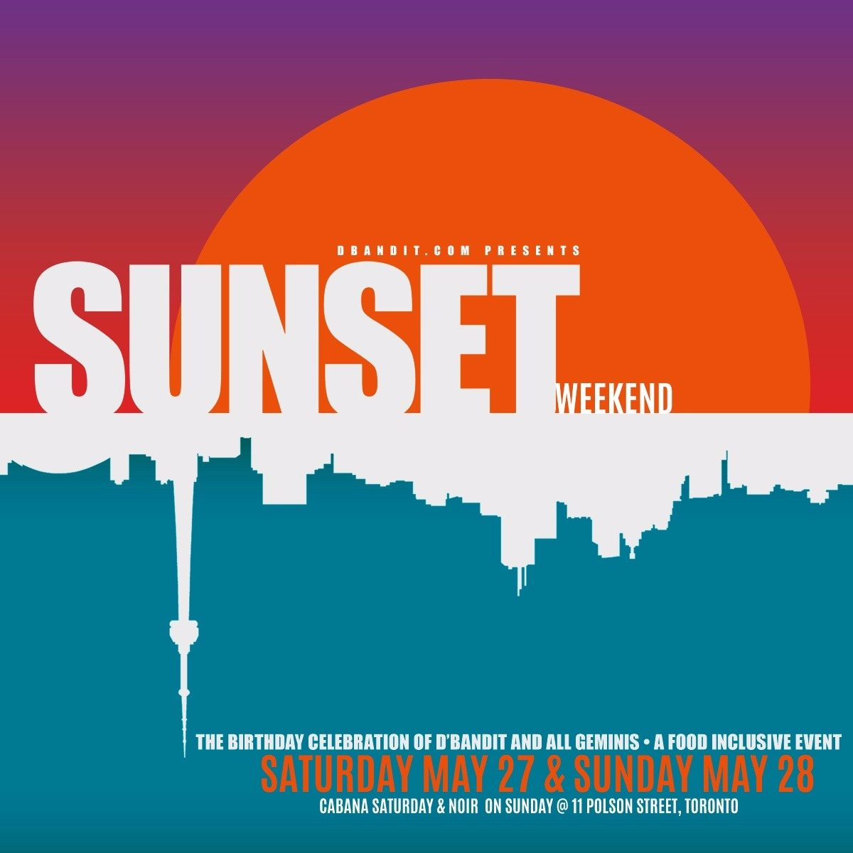 Sunset Weekend - the food inclusive event 2017