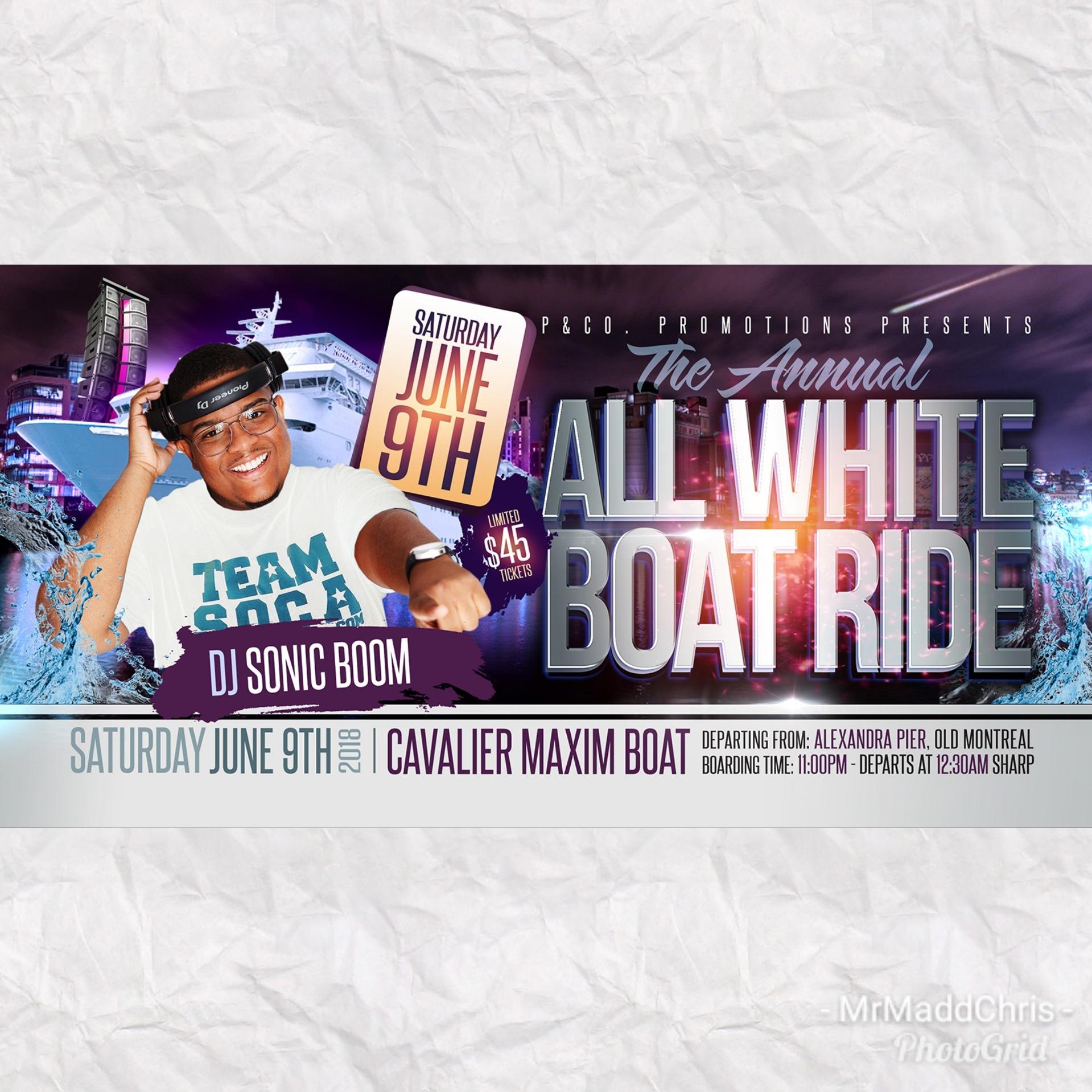 All White Boat Ride 2018