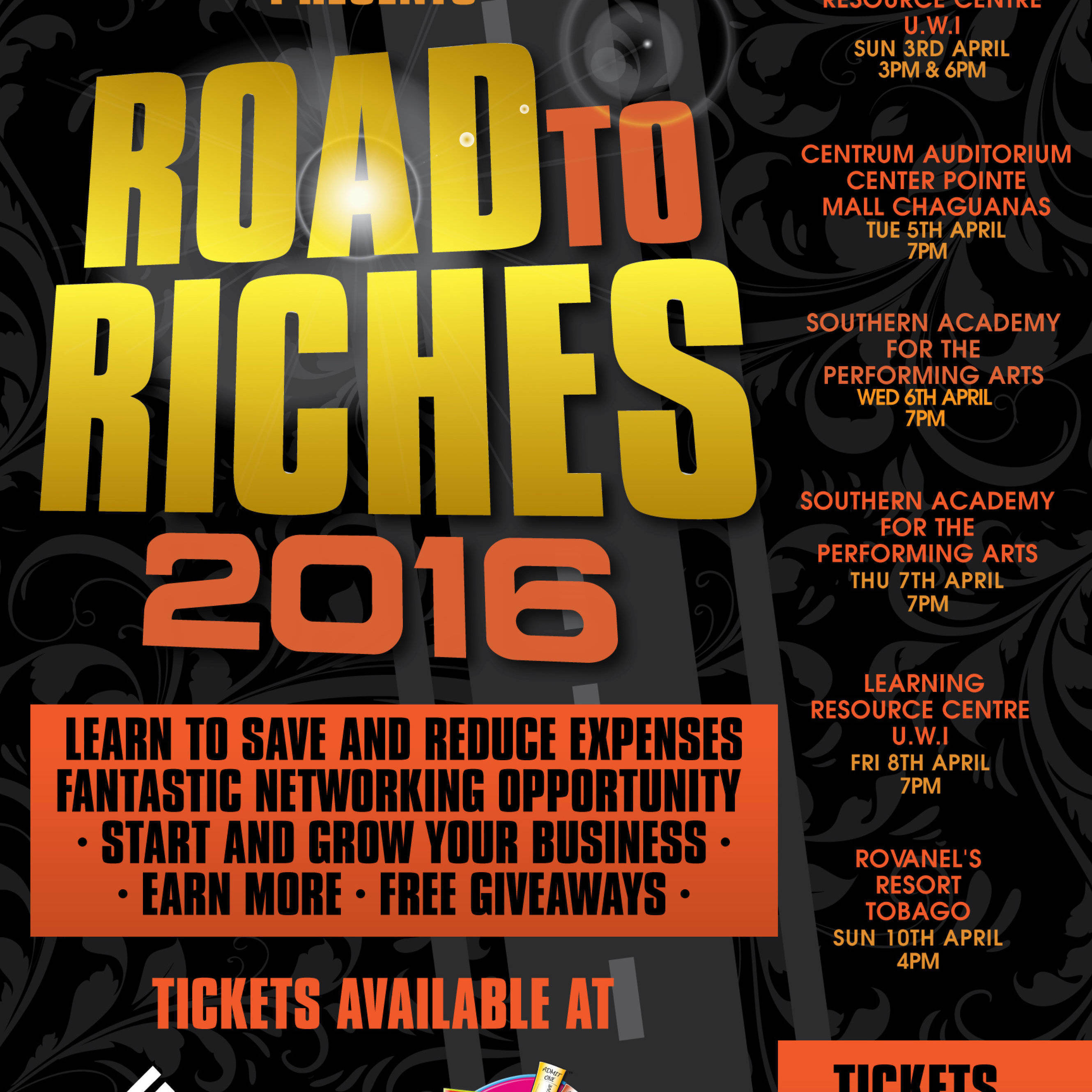 Road to Riches / 10th April / 4pm