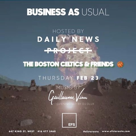 BUSINESS AS USUAL THURSDAYS @ EFS