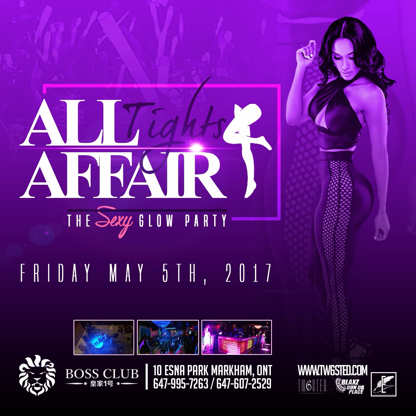 All Tights Affair: The Sexy GLOW Party | Friday  May 5th 2017 |