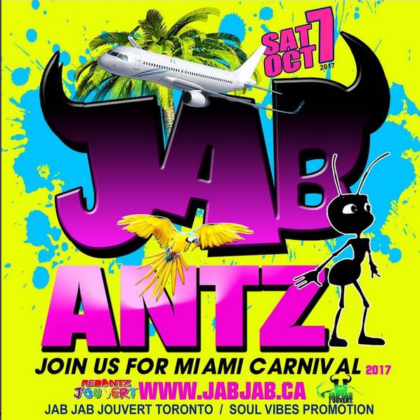 Jab Antz Jouvert- Miami Carnival (Section of Red Antz Jouvert Band)