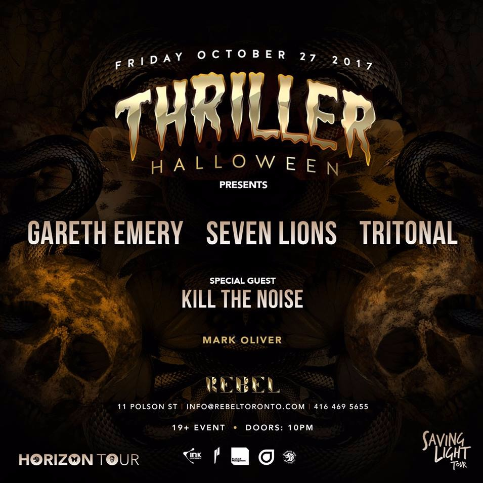 Thriller w/ Gareth Emery, Seven Lions, Tritonal + more at REBEL