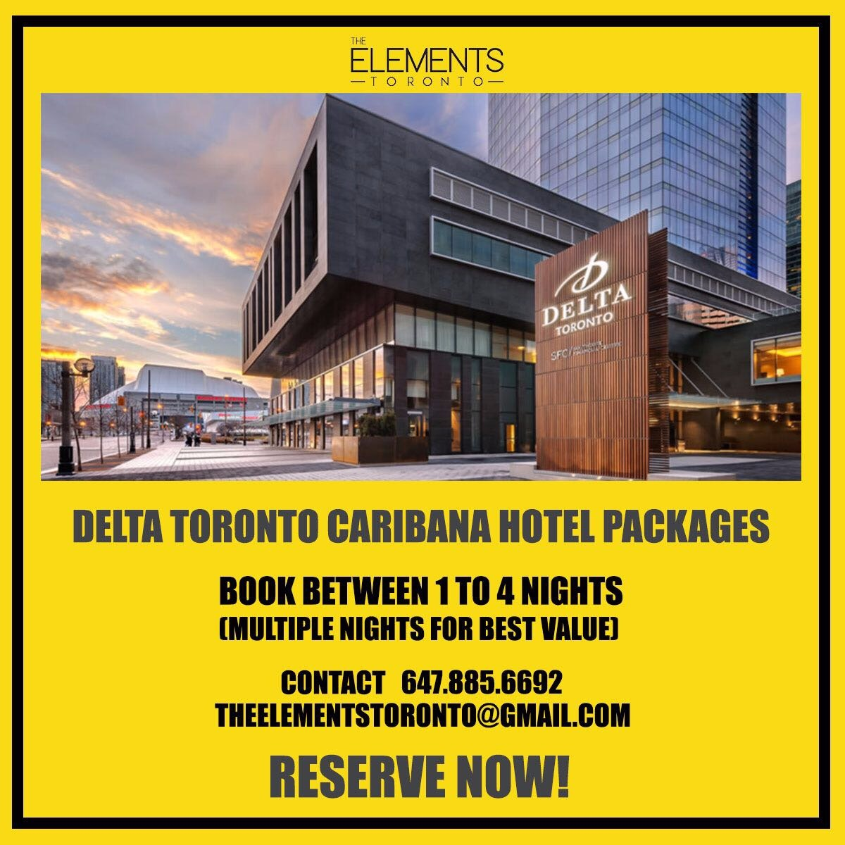 DELTA TORONTO CARIBANA HOTEL PACKAGES