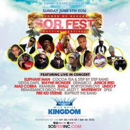 SOR FEST - Summer Of Reggae Festival