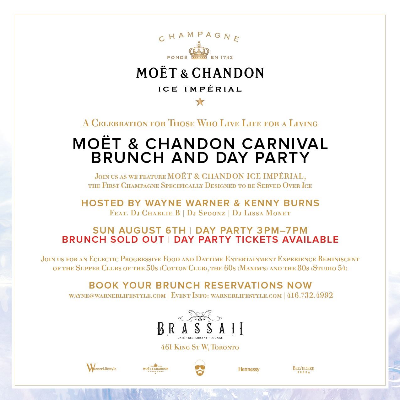 MOET & CHANDON CARNIVAL BRUNCH & DAY PARTY