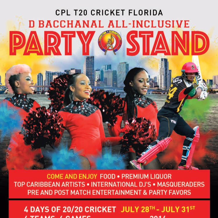 D' BACCHANAL ALL-INCLUSIVE CPL PARTY STAND | JULY 31ST AT 12PM