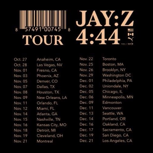 JAY-Z - 4:44 Tour at Air Canada Centre