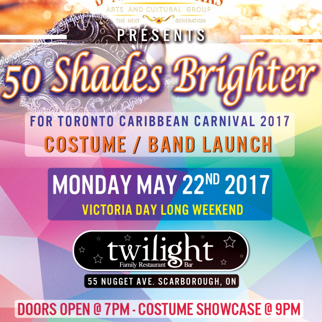 D' New Regulars 50 shades Brighter Toronto Caribbean carnival band launch