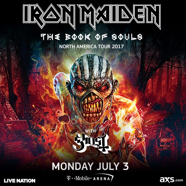 Iron Maiden - The Book Of Souls Tour 2017 at T-Mobile Arena