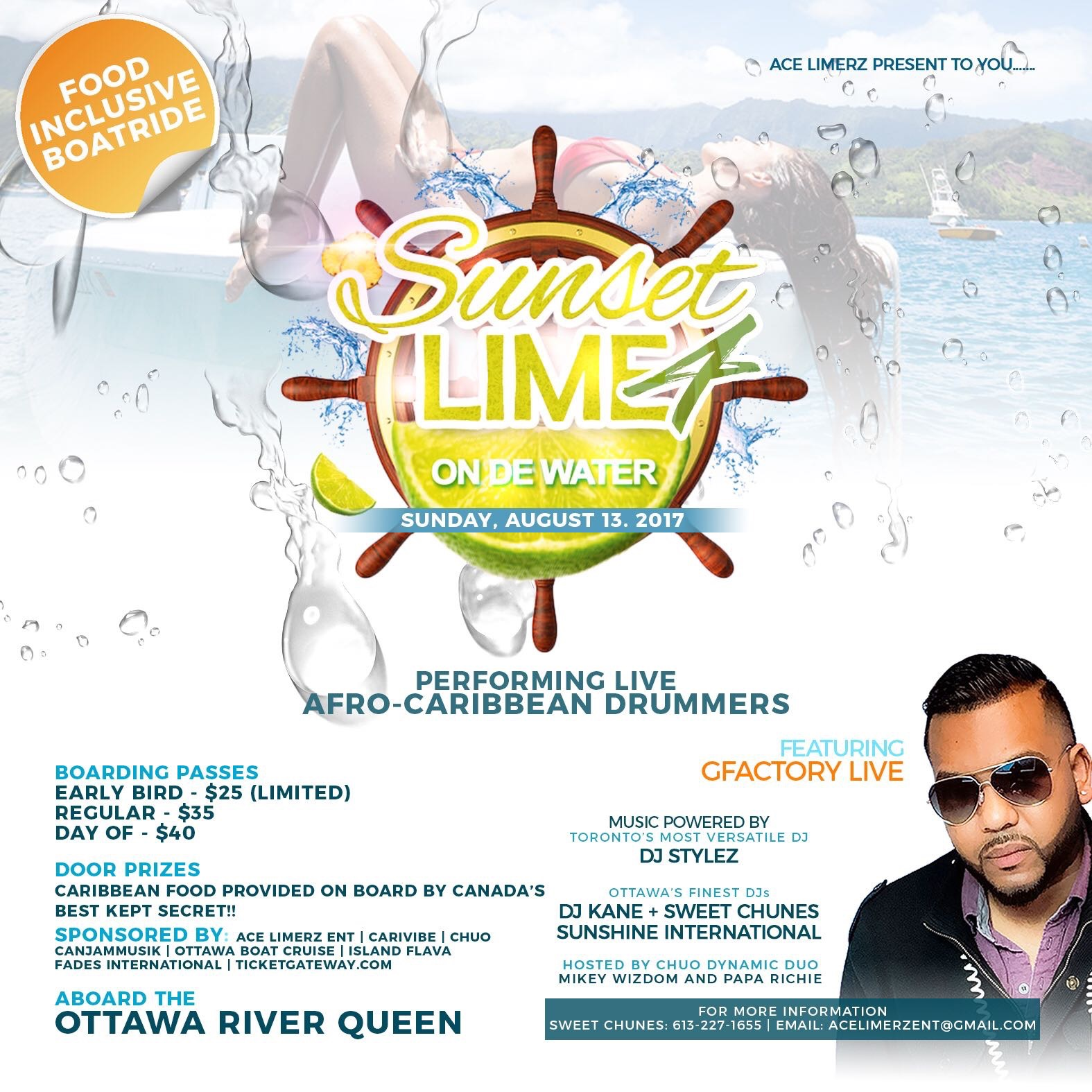 Sunset Lime 4 - Food Inclusive Daytime Boat Ride