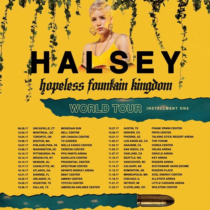 Halsey: hopeless fountain kingdom with PartyNextDoor & Charli XCX