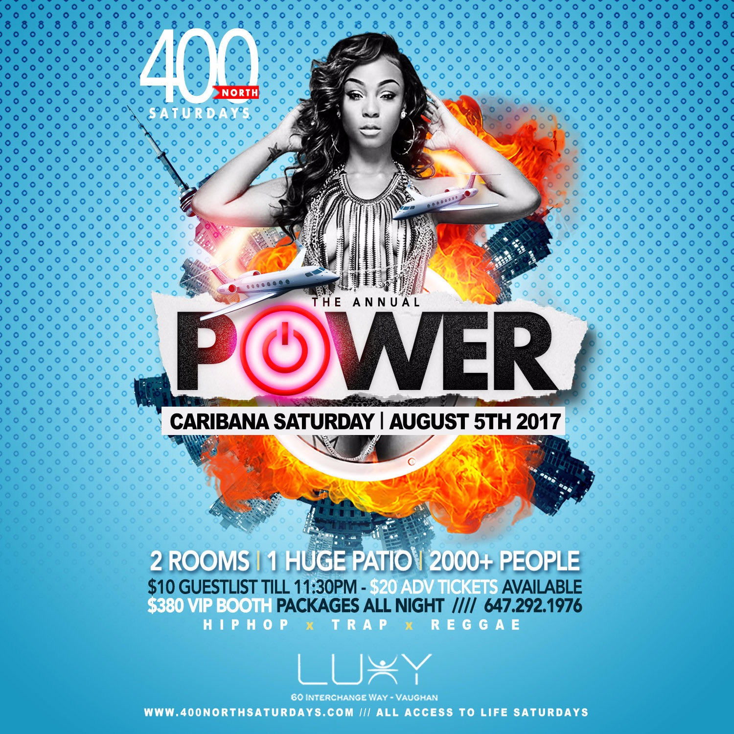 POWER | The Hip Hop + Trap Meets Reggae Room On Caribana Saturday