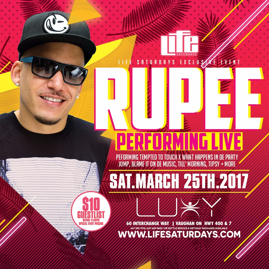 Life Saturday's - Rupee Live in Concert