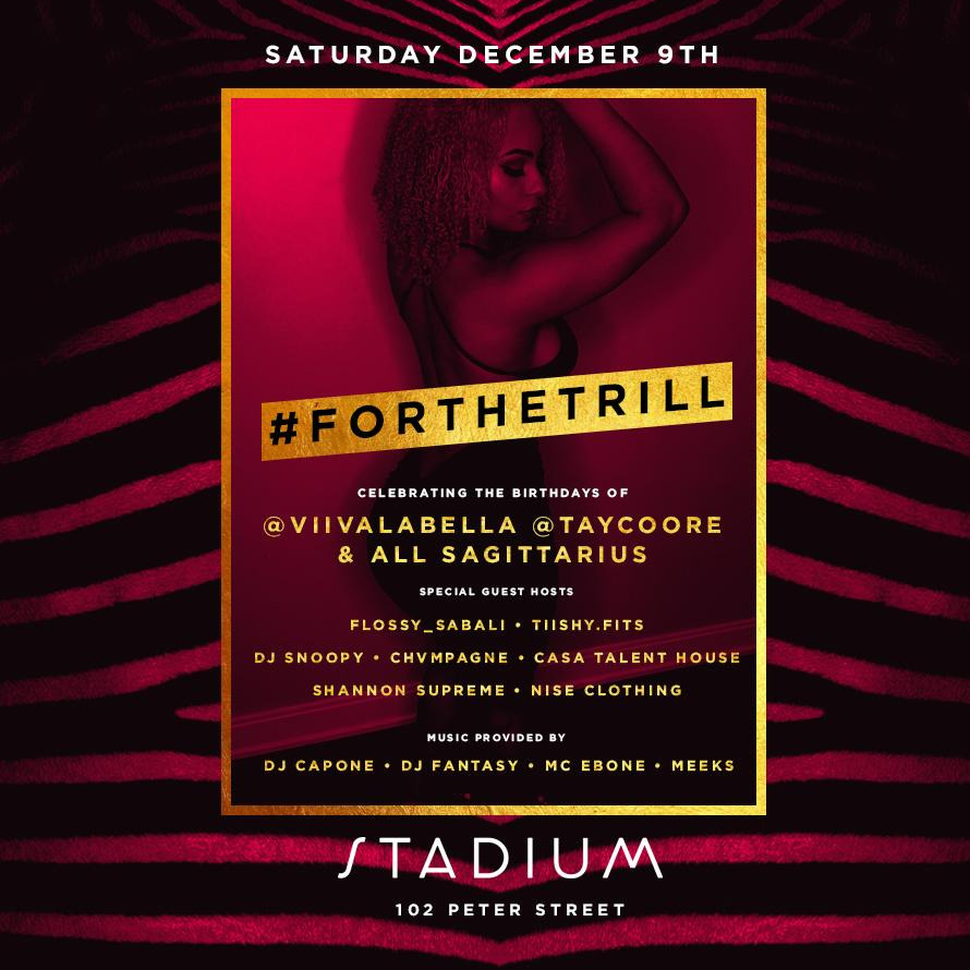 STADIUM SATURDAYS HIP HOP,RNB,REGGAE + SOCA