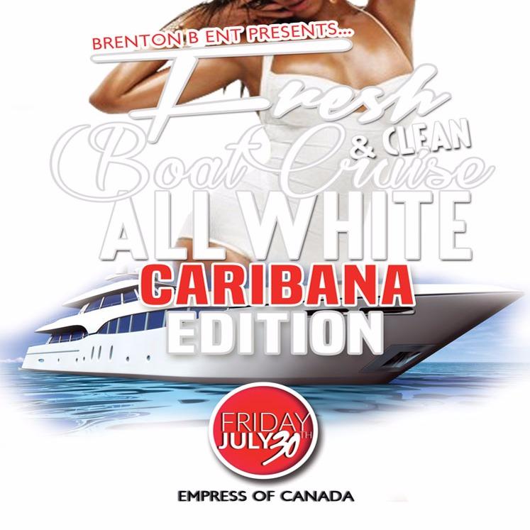 All White Caribana Boat Cruise Fresh & Clean
