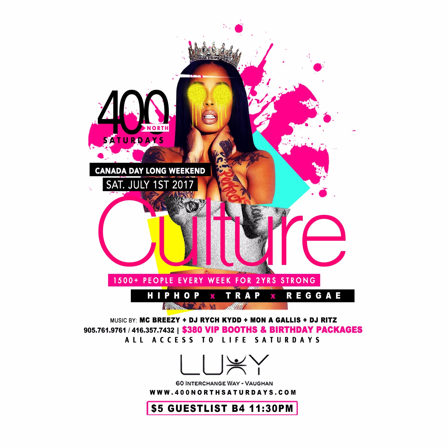 400 NORTH SATURDAYS - CULTURE