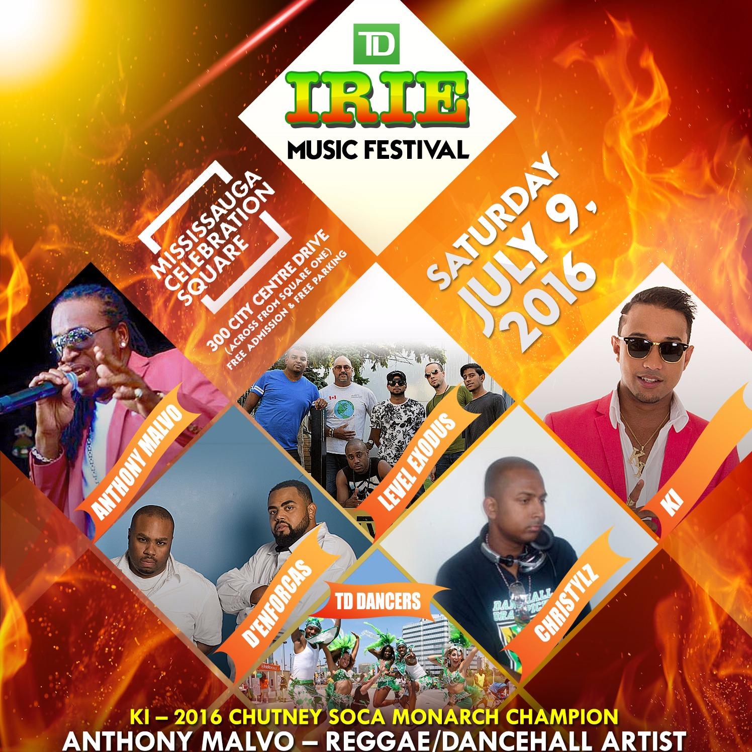 TD IRIE MUSIC FESTIVAL MISSISSAUGA