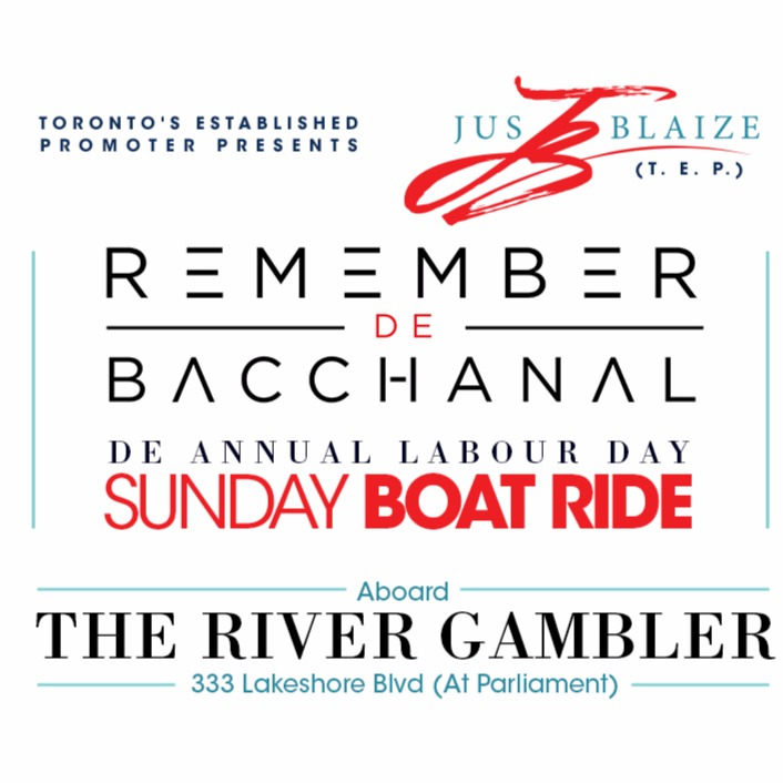 REMEMBER DE BACCHANAL DE ANNUAL LABOUR DAY SUNDAY BOAT RIDE
