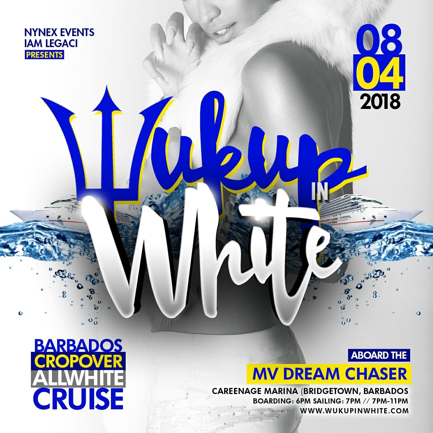 WUK UP IN WHITE The Annual All White Boat Ride Sat. August 4th · Barbados Crop Over 2018