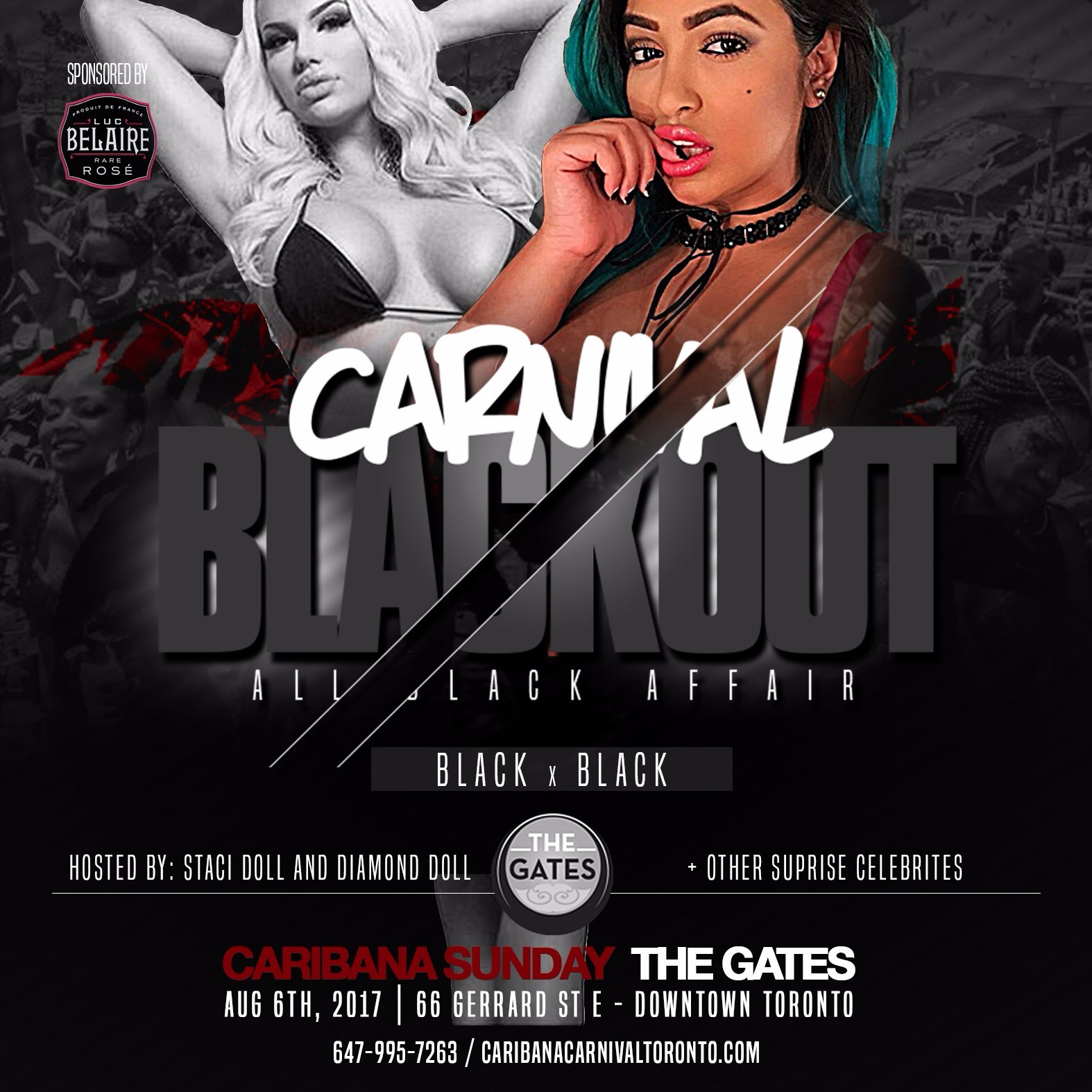 CARNIVAL BLACKOUT - ALL BLACK AFFAIR - BLACK X BLACK - Caribana Sunday
