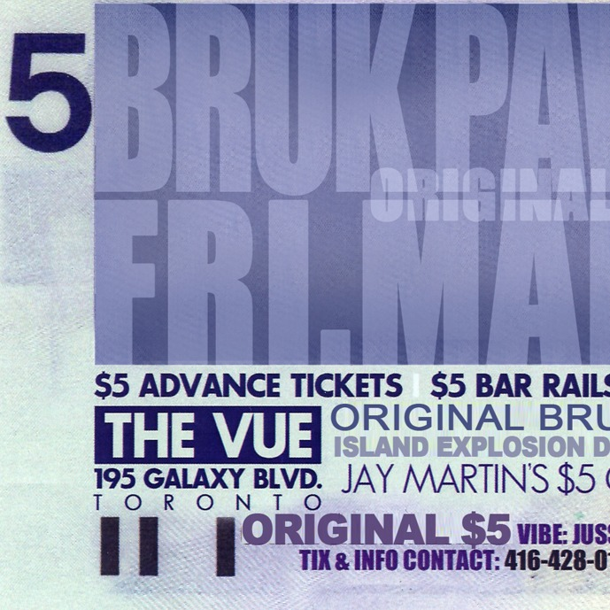 Bruk Pocket $5 Party - March 31st