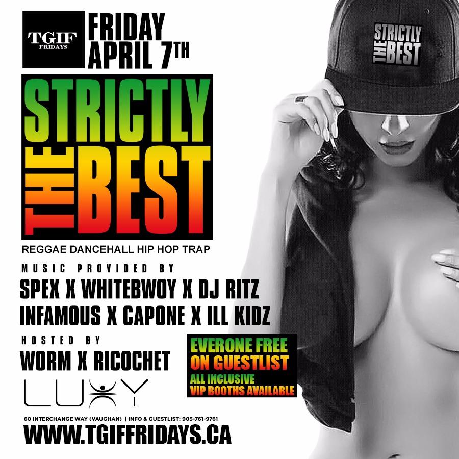 TGIF Fridays - STRICTLY THE BEST