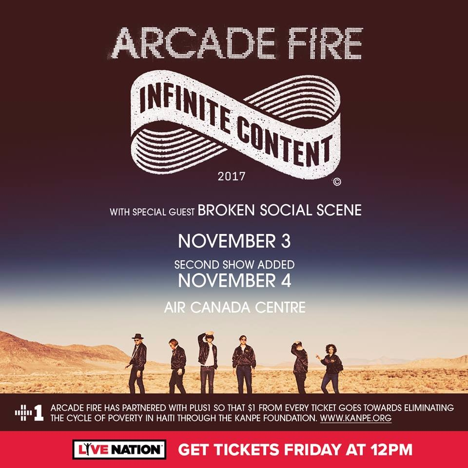 Arcade Fire - Infinite Content 2017 at Air Canada Centre