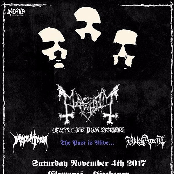 MayheM, Immolation & Black Anvil at Elements Nightclub Kitchener