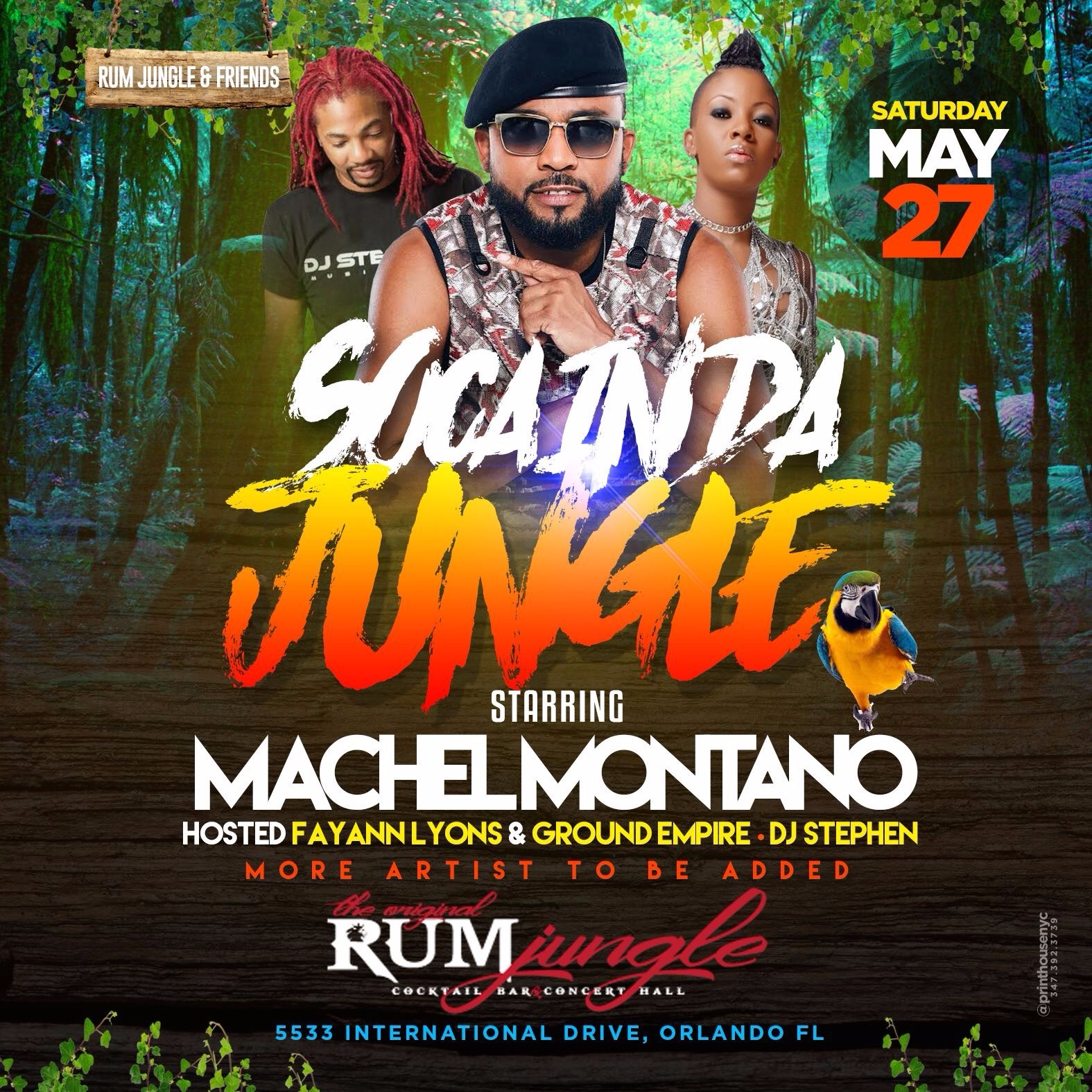 SOCA IN DA JUNGLE - MACHEL MONTANO