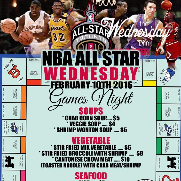 NBA All Star Wednesday GAMES NIGHT @ Twilight